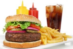Гамбургер с колой