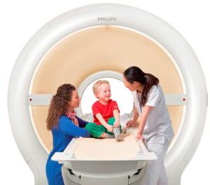 Ребенок на МРТ
