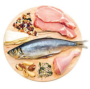 Рыба, мясо, бобы