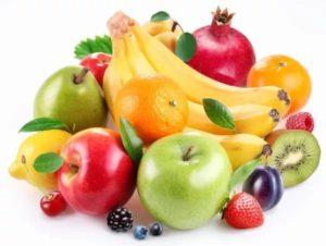 Разные фрукты собраны вместе
