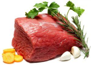 Свежее мясо с приправами